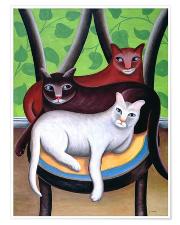Cats on a Chair, Jerzy Marek