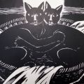 Frans Masereel - Deux chattes