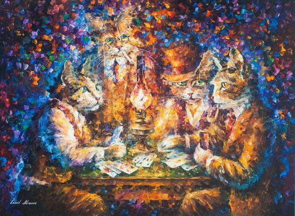 Cat Game, Leonid Afremov