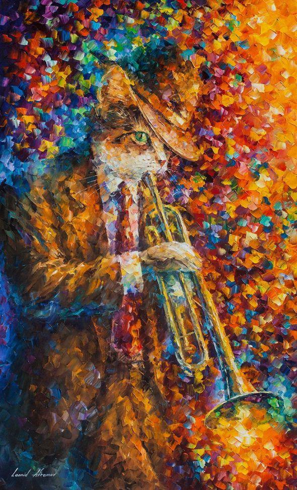 Cat on the Horn, Leonid Afremov