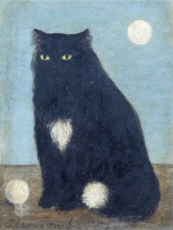Black Cat with White Ball, 1957 Gertrude Abercrombie