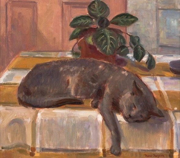 Heysen Nora Cat with Still Life