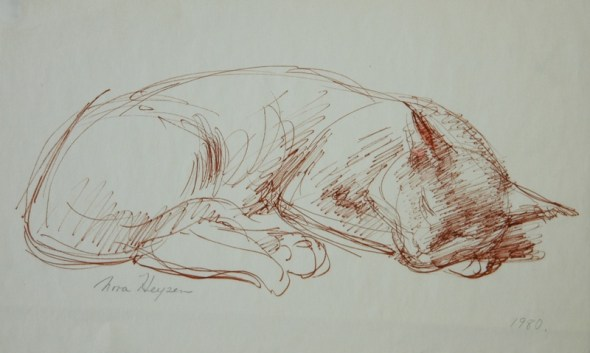 Nora Heysen, Cat Sketch