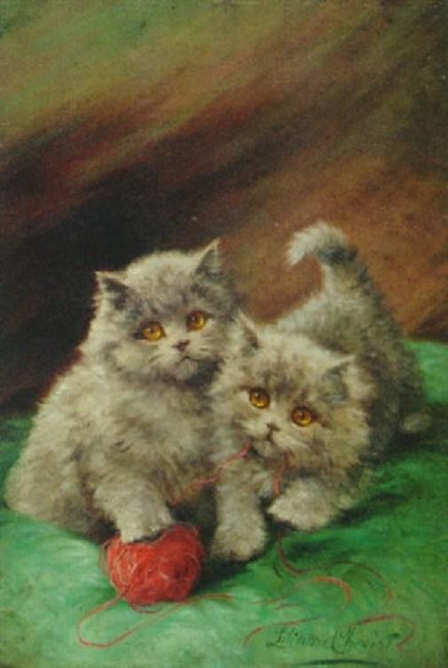 Playful Kittens, Lilian Cheviot