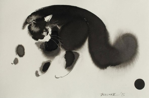 Endre Penovac, Black Cat Playing