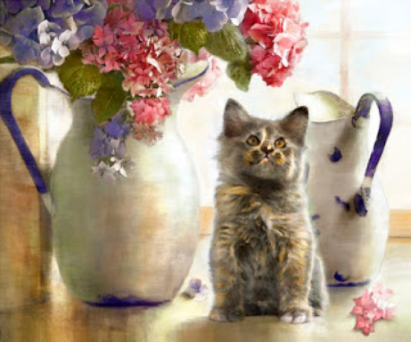 Dianne Woods, Kitten on the Table