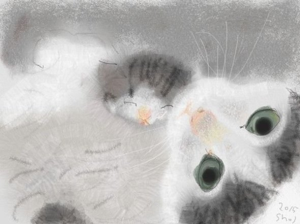 Shozo Ozaki, Mother and Kitten