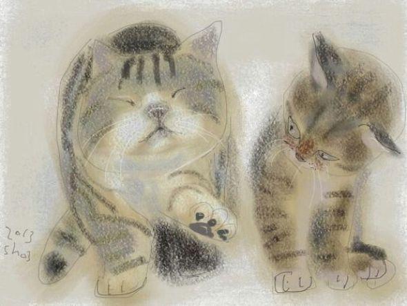 Shozo Ozaki, Stretching Cat