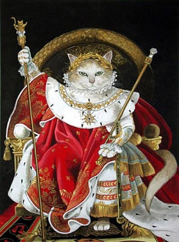 Napoleon cat art