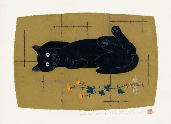 Black Cat on its back, Nishida Tadashige