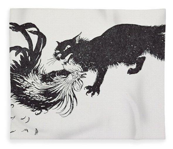 The Cat and the Cock, Arthur Rackham illustration