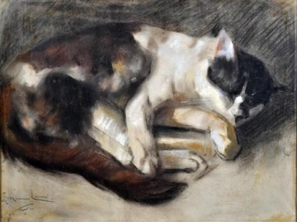 Sleeping Cat, Marino Lenci