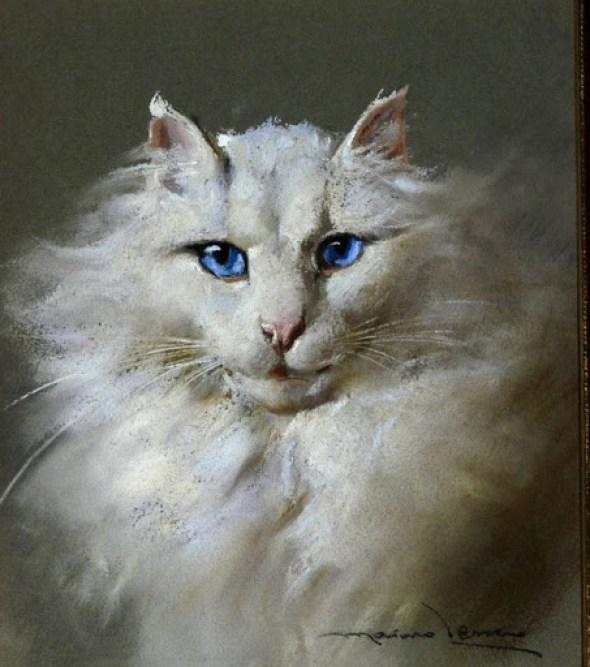 White Cat with Blue Eyes, Marino Lenci