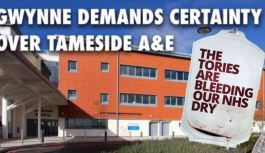 Speculation grows that Tameside A&E has been identified for a possible downgrade or for closure by the Government — Andrew Gwynne MP
