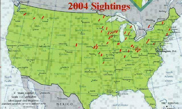 Historic Morel Sighting Map