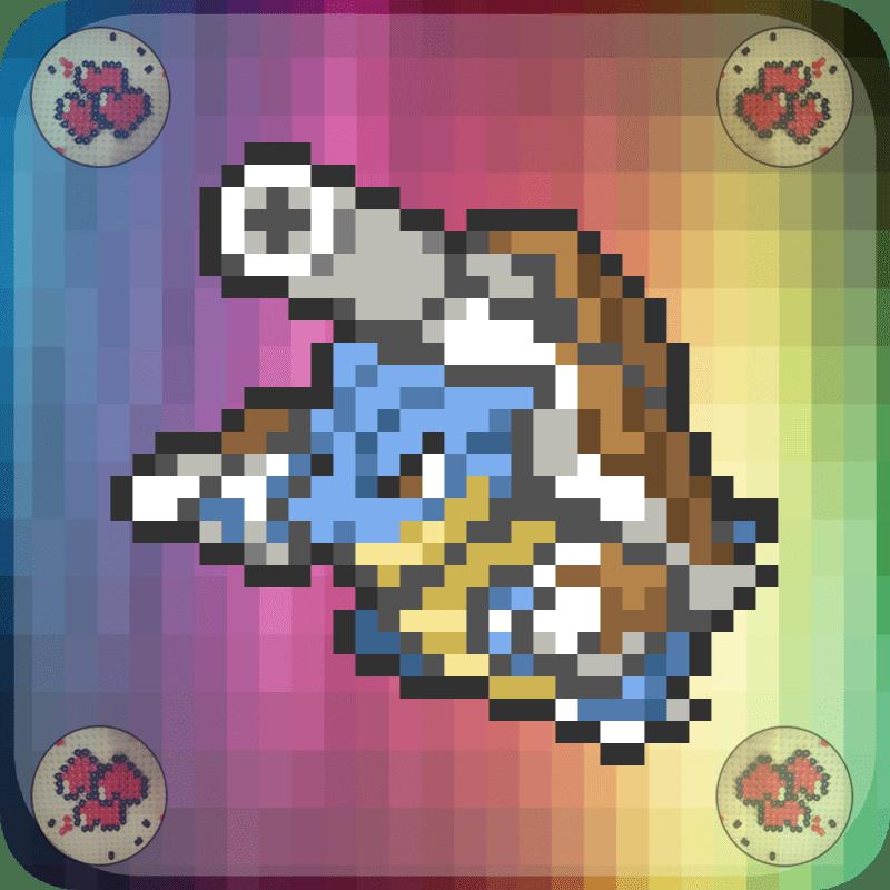 Mega-Tortank-vignette-pokemon-pixel-card-pixelart-pixelcraft-pixelbeads-perlerbeads-perlerart-hama-hamabeads-hamasprites-artkal-artkalbeads-fusebeads-retro-gaming-sprite-design-tutoriel