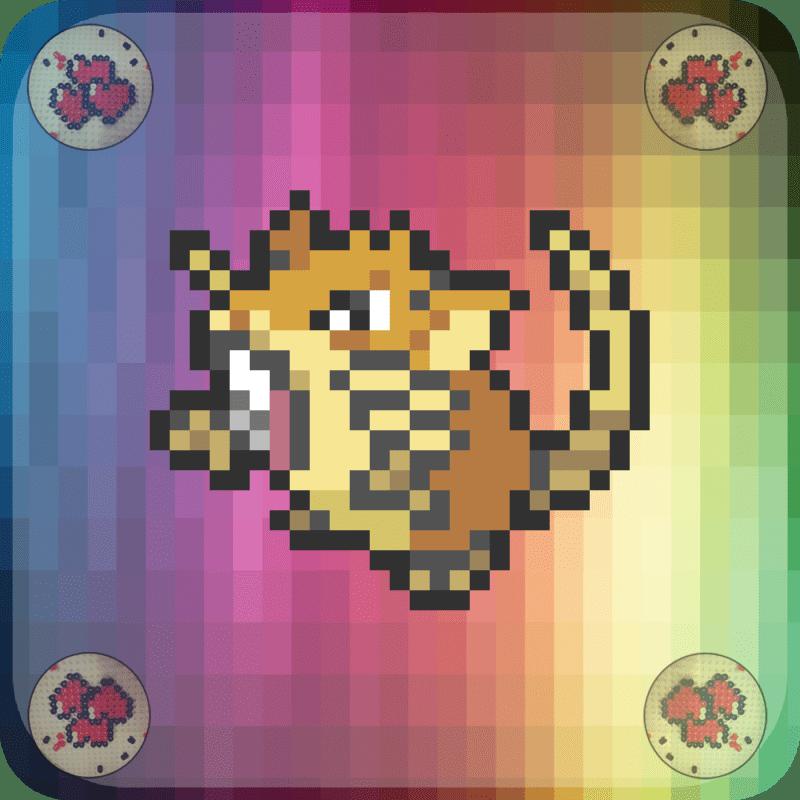 Rattatac-vignette-pokemon-pixel-card-pixelart-pixelcraft-pixelbeads-perlerbeads-perlerart-hama-hamabeads-hamasprites-artkal-artkalbeads-fusebeads-retro-gaming-sprite-design-tutoriel