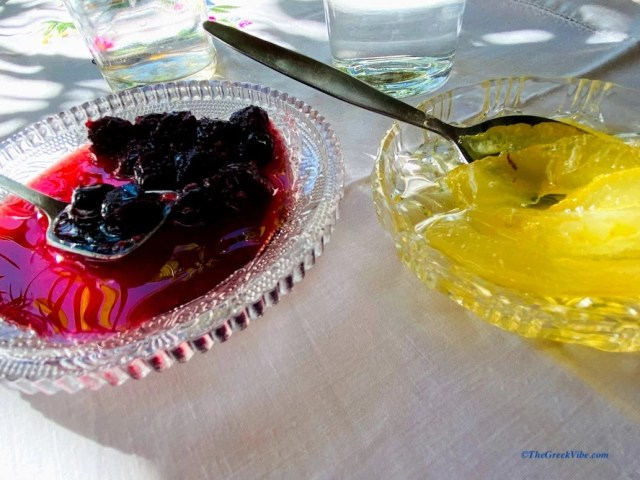 traditional Greek spoon sweets