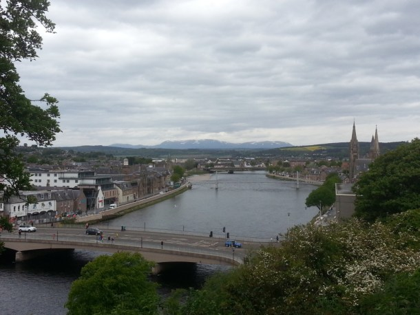 Great view of the city and the river from Inverness Castle