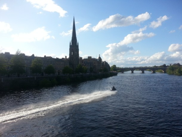 The river Tay becomes a playground in the summer