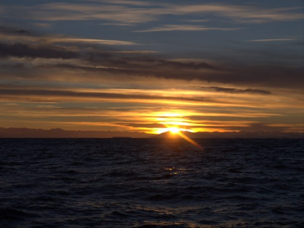 Infinity Expedition - Sunset over the Antarctic mountains