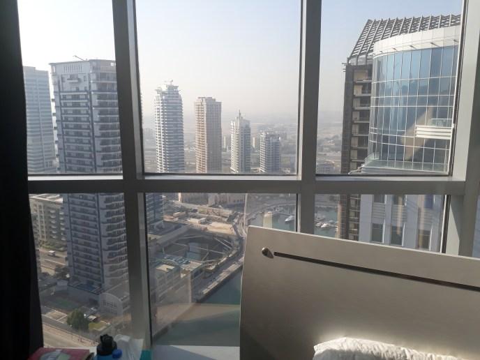Dubai Marina view from Marina Wharf building