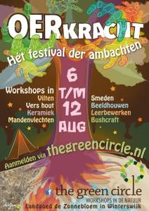 Poster Oerkracht, Het festival der ambachten The Green Circle - Workshops in de Natuur