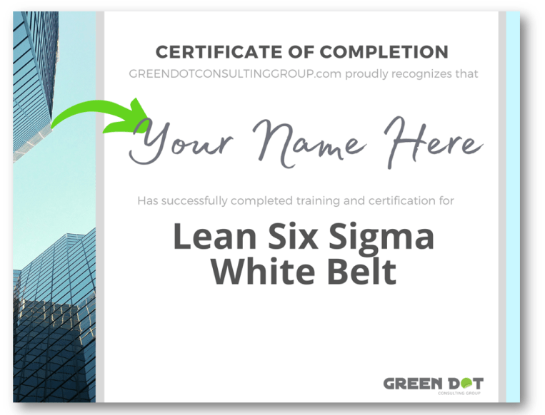 Get Your Lean Six Sigma White Belt Certification