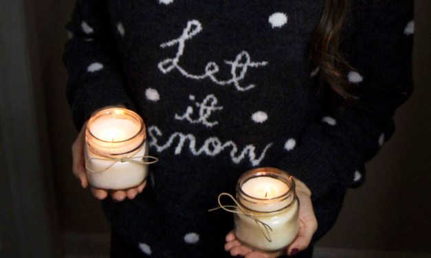 DIY Organic Beeswax & Coconut Oil Candles
