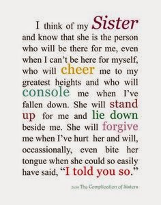 Letter to My Sister...