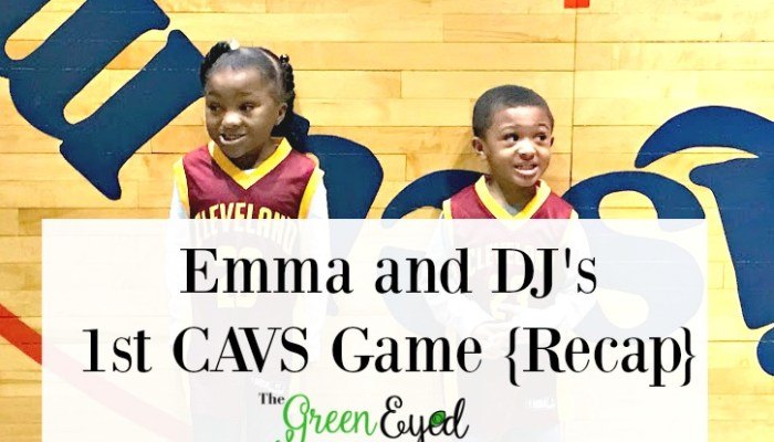 Emma and DJ's 1st CAVS Game {Recap}