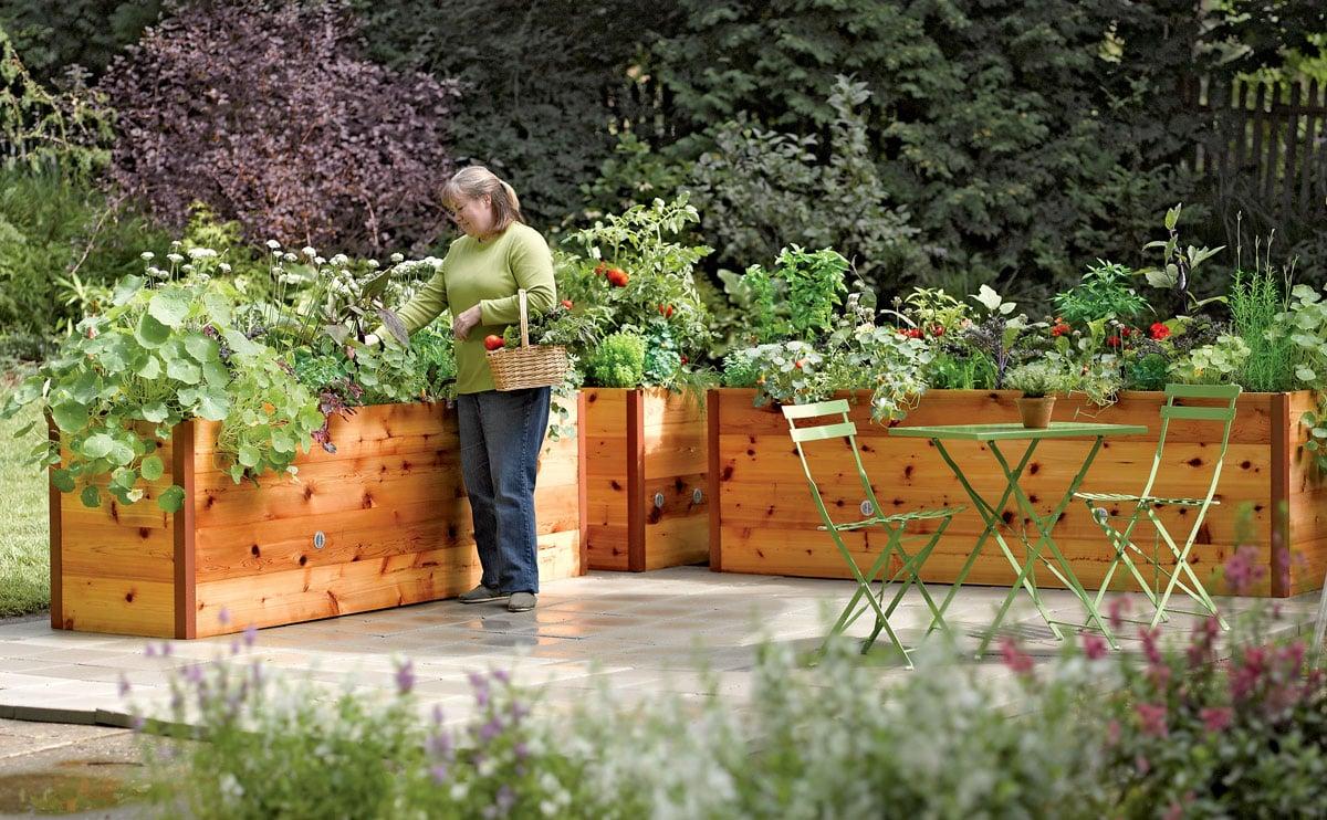 Elevated Cedar Raised Garden Beds - The Green Head on Backyard Raised Garden Bed Ideas id=62854