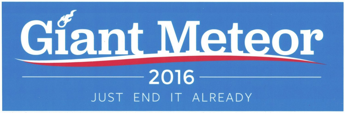 Image result for giant meteor 2016 poll