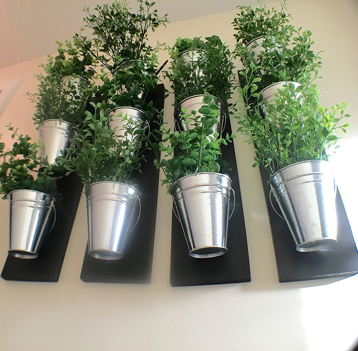 Galvanized Metal And Wood Planters