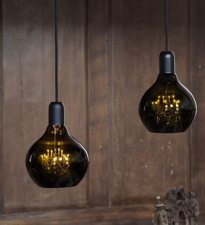 King Edison Miniature Brass Chandelier Pendant Lamp