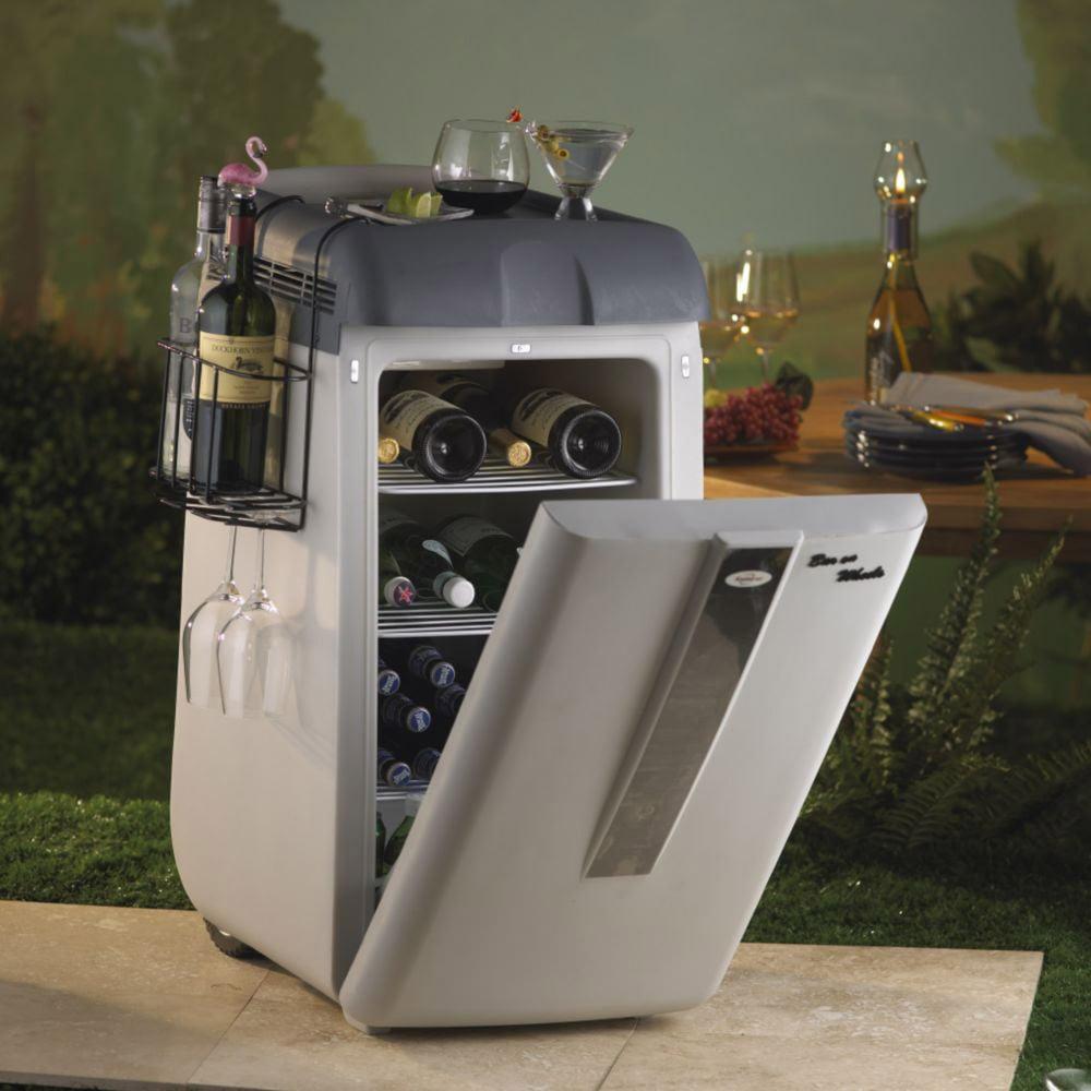 Koolatron - Portable Bar On Wheels - The Green Head on Portable Backyard Bar id=62839