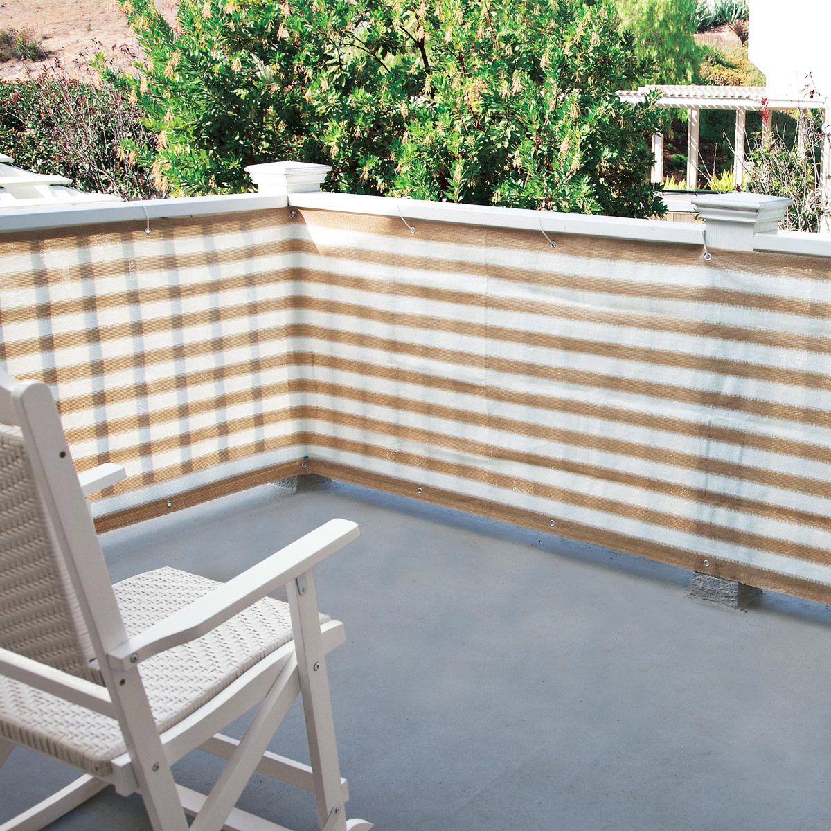 privacy screen for deck porch and