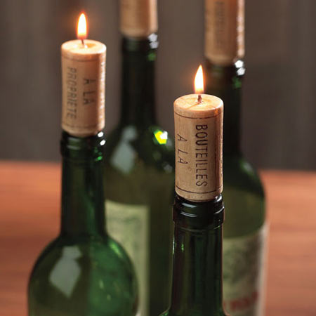 Wine Cork Candles Set Of 12 The Green Head