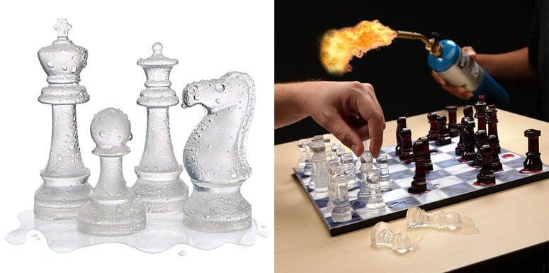 Ice Speed Chess Set The Green Head