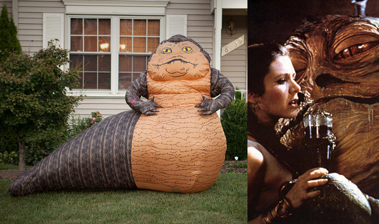 Lifesize Inflatable Star Wars Jabba The Hutt The Green Head