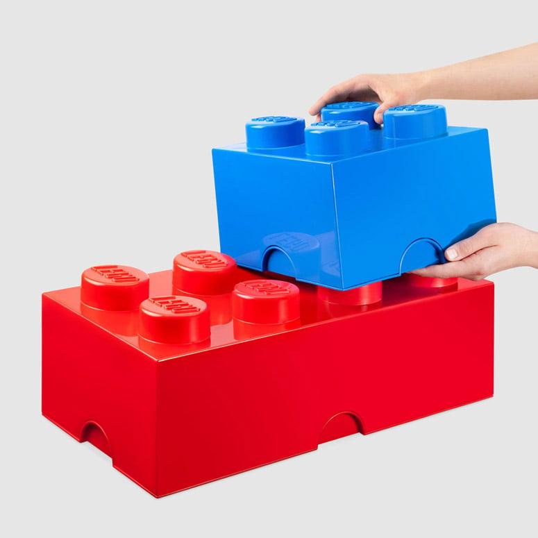 Massive LEGO Stackable Storage Bricks The Green Head