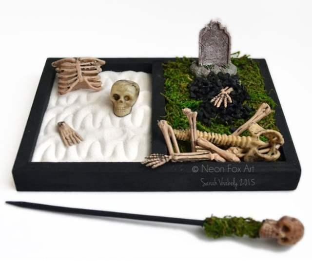 Mini Halloween Zen Garden Cemetery