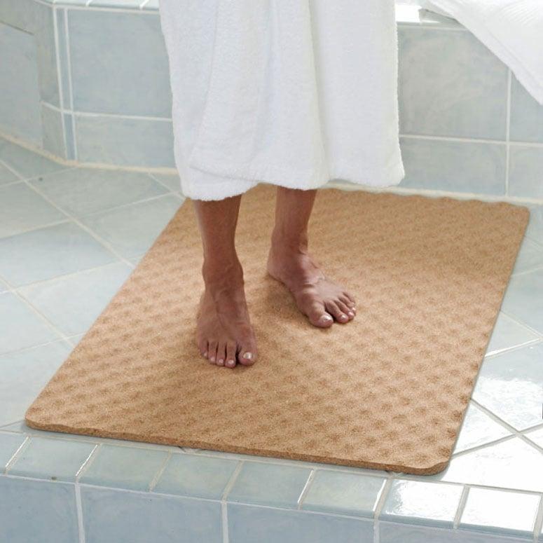 natural cork bath mat - the green head