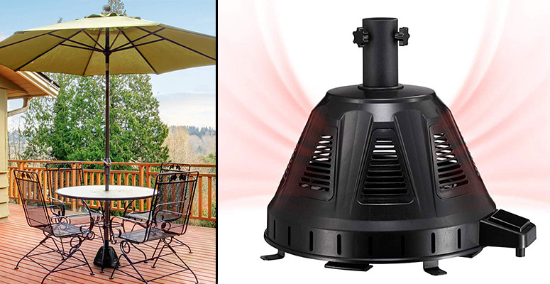 patio umbrella base heater