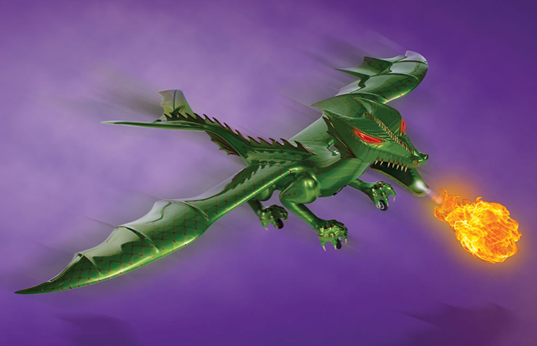 RC Jet Powered Fire Breathing Dragon The Green Head