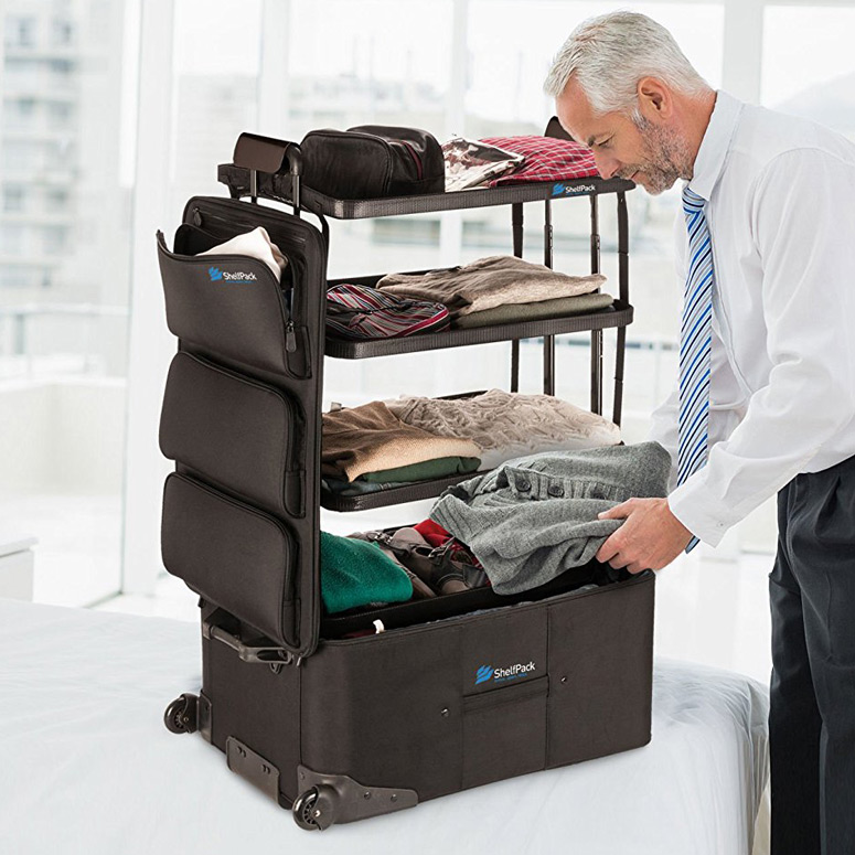 ShelfPack Suitcase With Built In Shelves The Green Head