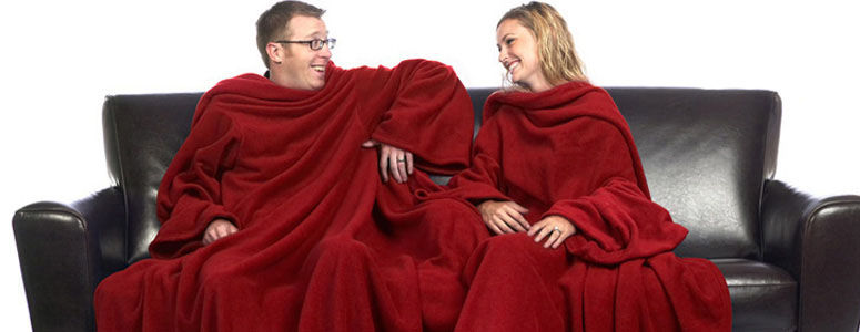 Siamese Slanket Blanket With Sleeves For Two The