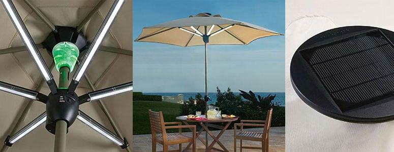 solar powered patio umbrella shade by