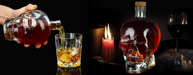 Spirit Head Crystal Skull Liquor Decanter The Green Head
