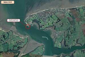 Clarkes Beach proposed pontoon point